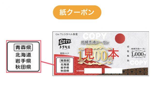 gotoトラベル地域共通クーポン【見本】